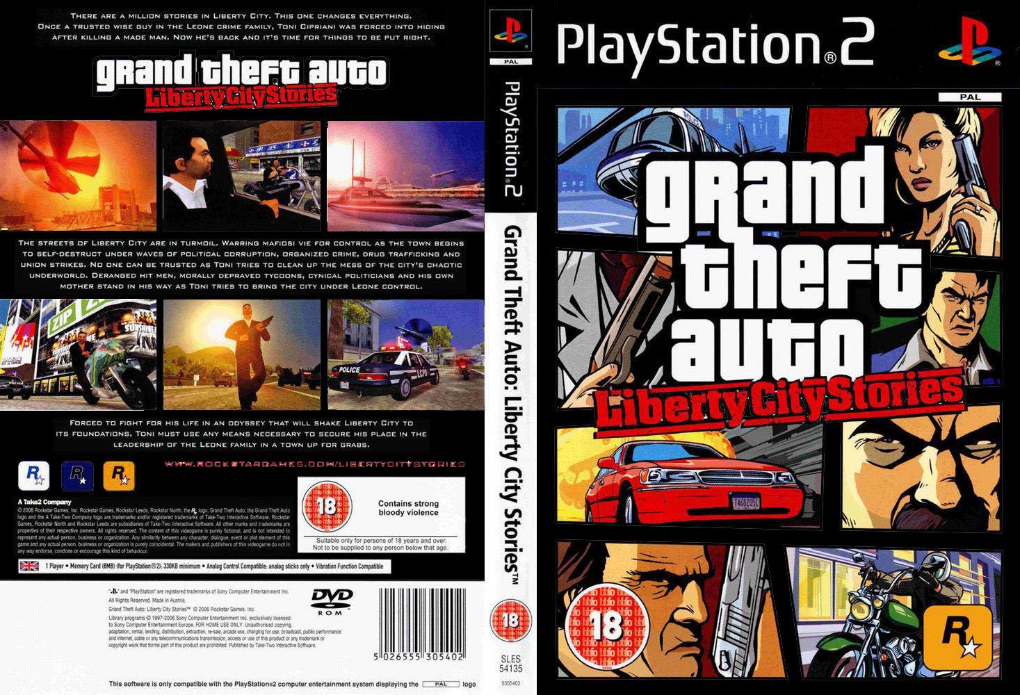 Grand Theft Auto Liberty City Stories 2006 PS2